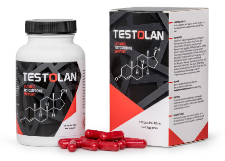 Testolan bottle box and pills